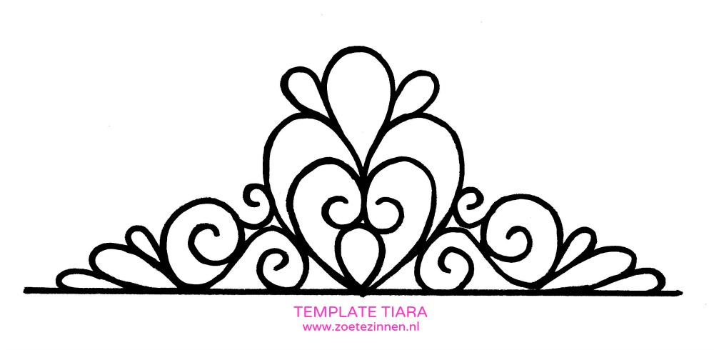 Fondant princess crown template for Free printable tiara template
