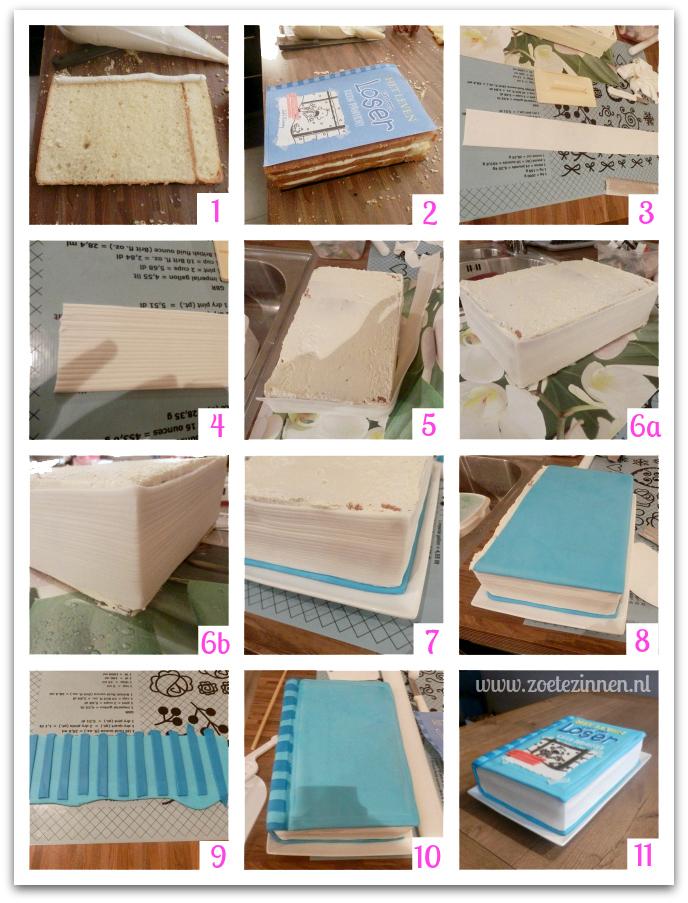 How-to taart in de vorm van een boek