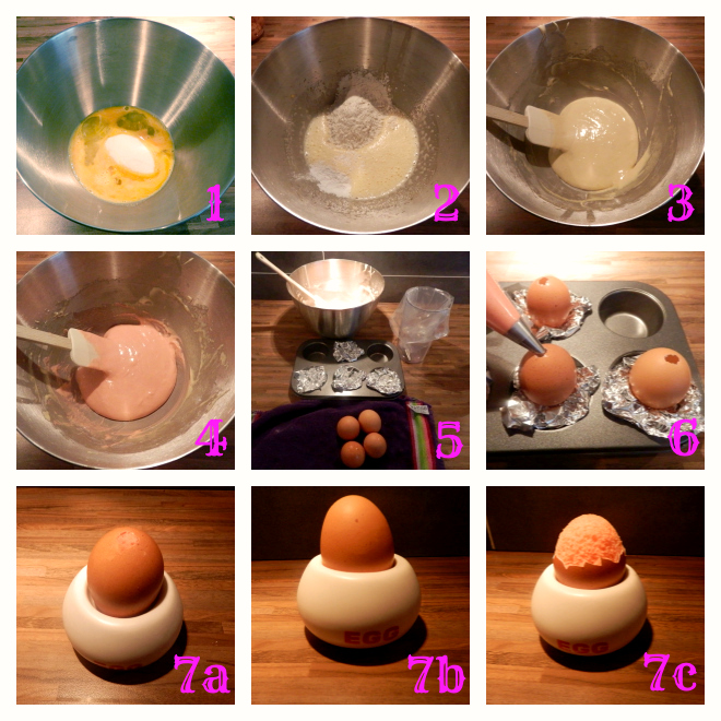 Cake in eierschaal