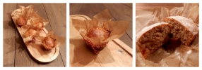 Collage recept bananenmuffins