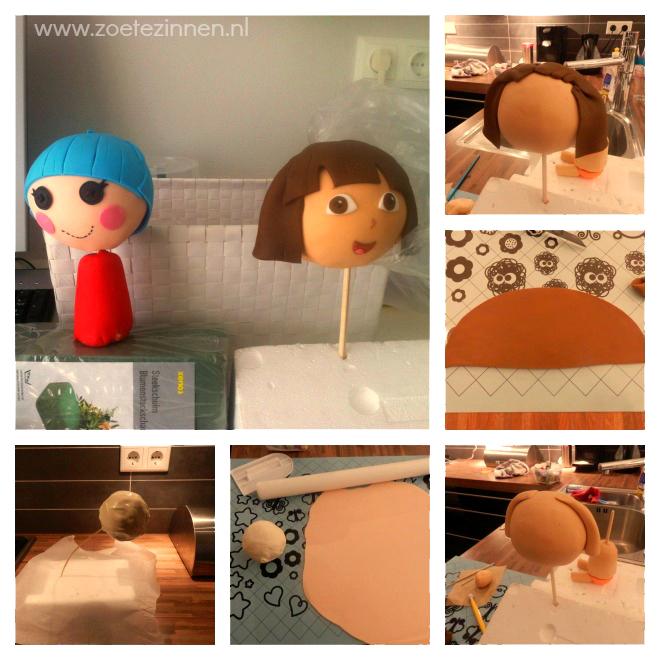 Dora en Lalaloopsy taart
