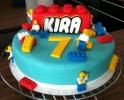 Lego taart verjaardan Kira