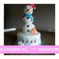 Sneeuwpop-taart